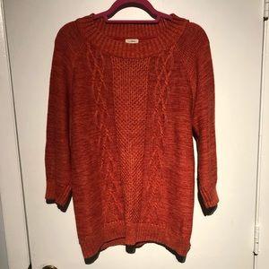 Ll Bean women's red/orange sweater